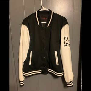 Jersey varsity letterman jacket